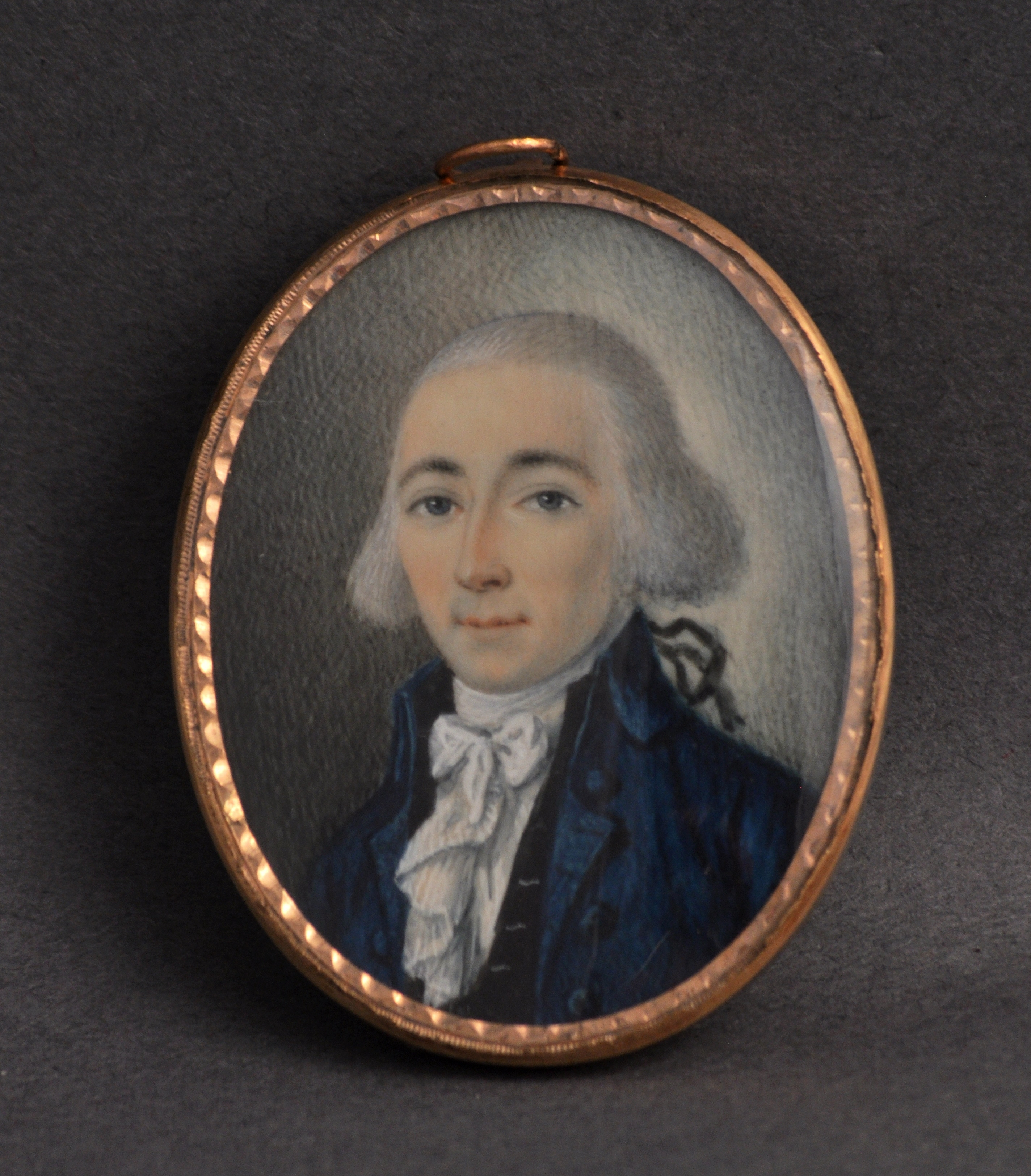 Charles Drayton (1743-1820). Artist unknown. ca. 1760. Watercolor on ivory, supported by burnished bezel case with hanging loop and mounted brooch pin. Drayton Hall Museum Collection, National Trust for Historic Preservation. Gift of Mr. Charles H. Drayton, III. Photograph courtesy of Mr. Russell Buskirk.