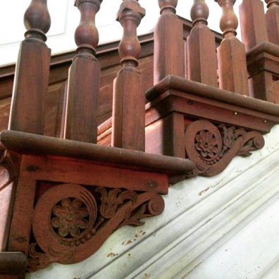 Drayton Hall stair hall brackets