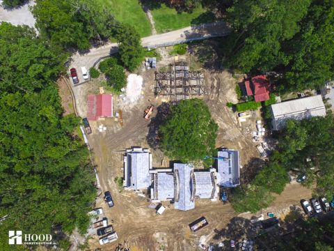 Drayton Hall aerial view of new facilities