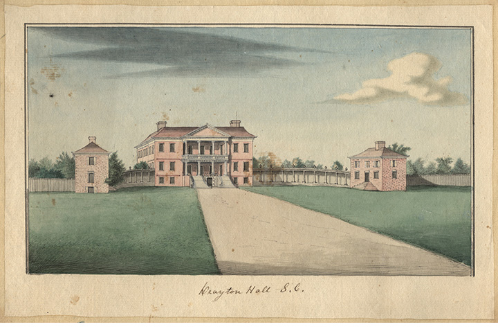 Drayton Hall Watercolor, c. 1765