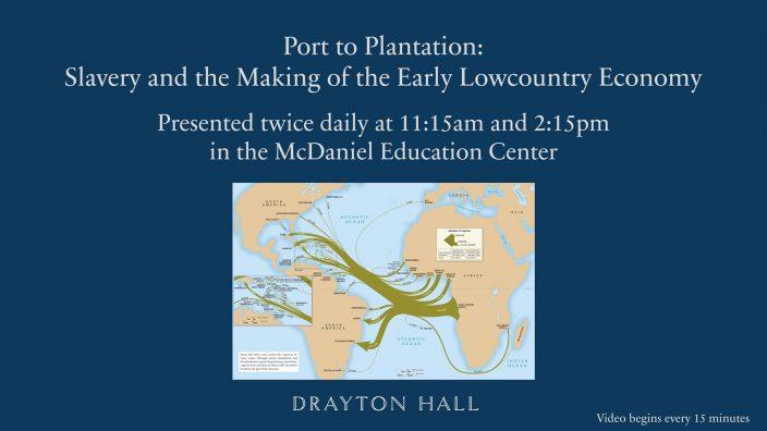 A most important education pressentation in slavery at Drayton Hall Charleston SC
